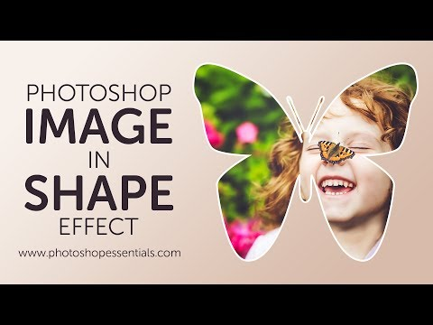 How to Fill a Shape with a Photo in Photoshop Tutorial