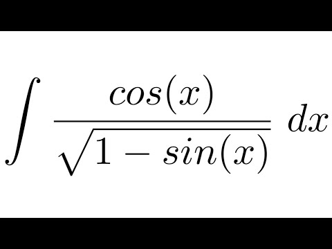 Integral of cos(x)/sqrt(1-sin(x)) (substitution)