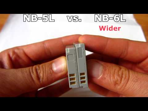 NB-5L vs NB-6L (Canon Battery Comparison)