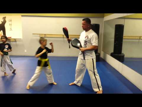 Sparring reaction drill for kids