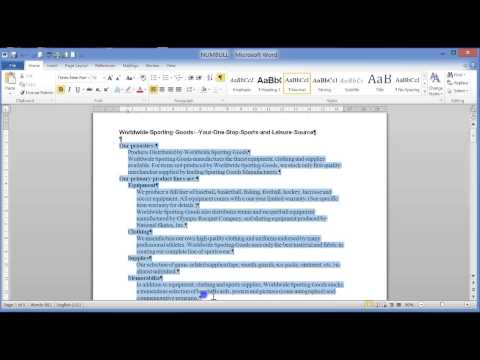 CAT 11 MS Word 2010 - 10 Outline Numbering & Multilevel Lists