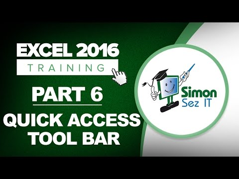 Excel 2016 Training Part 6: How to Customize the Quick Access Toolbar With Excel 2016