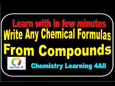 Awesome Tricks how to write chemical formula from any Compound in a Sec- in Hindi(Class 9/10/11/12)