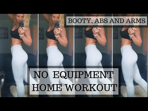 NO EQUIPMENT FAT BURNING AT HOME WORKOUT || BOOTY ABS ARMS AND LEGS
