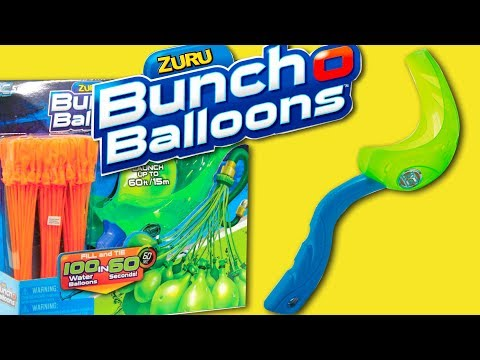Bunch O Balloons Launcher Demonstration & Review with Spider-Man