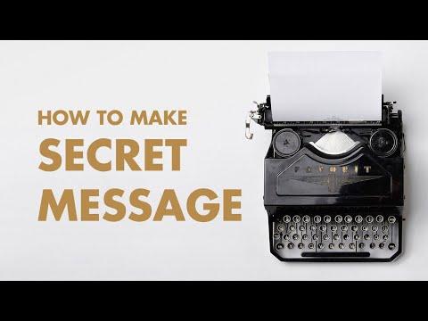 Amazing Secret Message Tricks