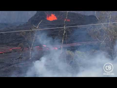 Kilauea Lava Flow Activity In Lower Puna May 19, 2018