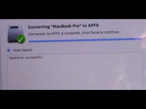 How to Convert to APFS on macOS High Sierra