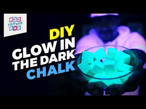 How to make a DIY Glow In The Dark Chalk | Valentine's Day Special