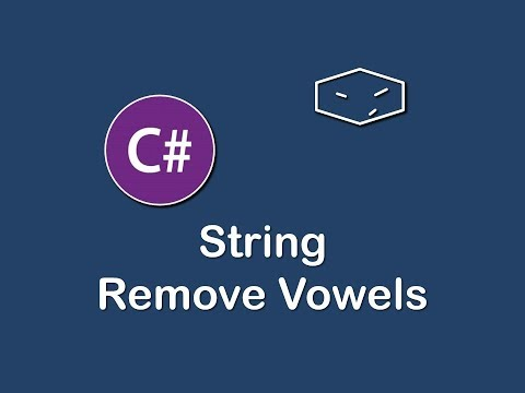 string remove vowels in c#