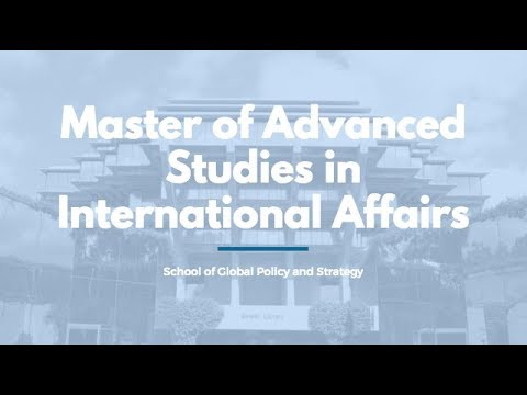 GPS Master of Advanced Studies in International Affairs degree video overview