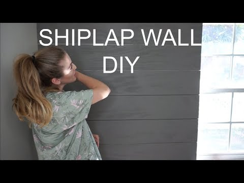 DIY FAUX SHIPLAP (FOR CHEAP!)