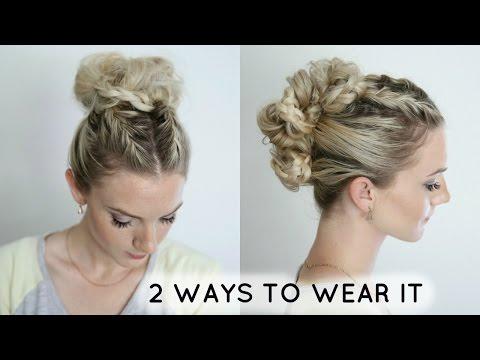 French Braids + Bun - 2 Ways To Wear It