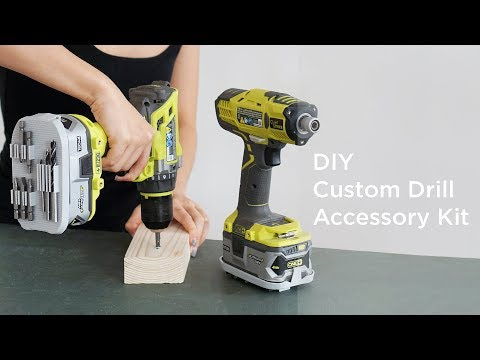 3D Printed Custom Drill Accessory Kit