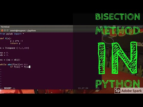 Bisection Method of Root Finding using Python