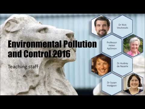 Environmental Pollution and Control module 2016