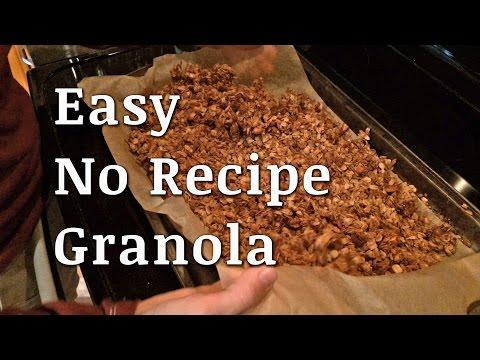 Easy No Recipe Healthy Granola