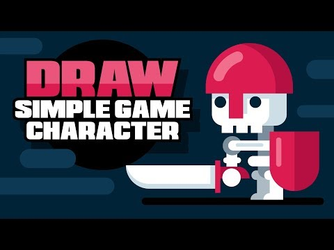 Video Game Character Design - Flat Design Designing - Adobe Illustrator Speed Drawing Tutorial