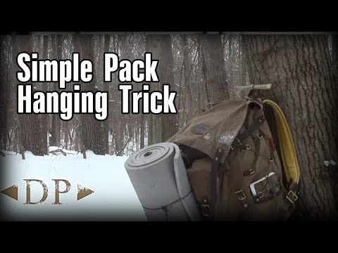 Simple Pack Hanging Trick for Backpacking