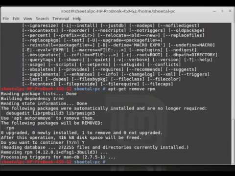 how to install rpm package in linux....