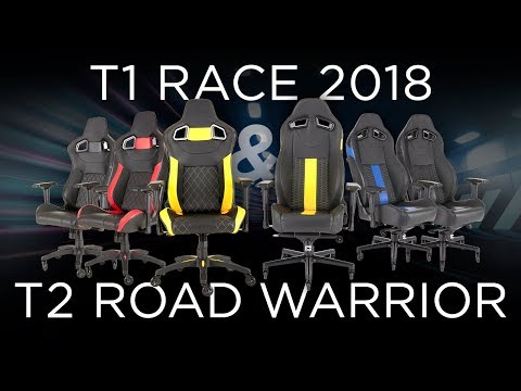 CORSAIR T2 ROAD WARRIOR AND T1 RACE GAMING CHAIRS