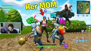 We WON WITH HER MOM, and then I bought her TIER 100 BATTLE PASSES.. (Fortnite Battle Royale)