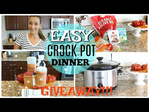 EASY CROCK POT RANCH CHICKEN TACOS | FALL GIVEAWAY
