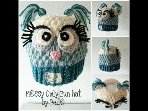 Child Size Owl Messy Bun Hat