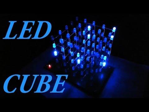 My DIY LED CUBE (PIC16F688) 5x5x5
