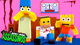 Minecraft: MORTE NOS SIMPSONS! (Assassinos)