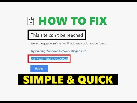 Fix DNS_PROBE_FINISHED_NXDOMAIN | This site can't be reached | Google Chrome