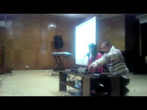 Rachel Row and KiNK improvisation at electroacoustic music workshop in Sofia