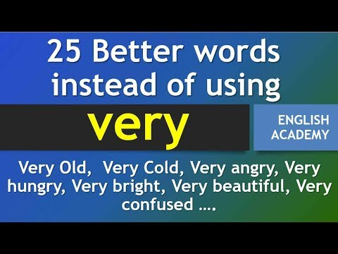 25 Better Words instead of using
