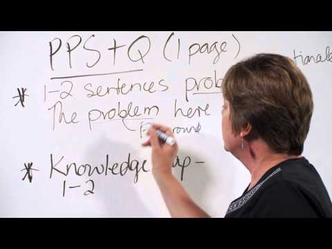 Thesis Writing: PPS&Q, writing fluency and overcoming procrastination