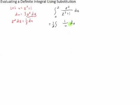 Evaluating a Definite Integral Using Substitution