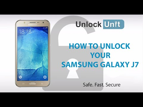 HOW TO UNLOCK Samsung Galaxy J7