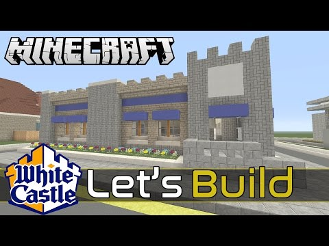 LET'S BUILD A WHITE CASTLE restaurant in Minecraft Part 2 of 2