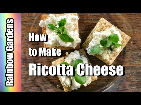 So EASY! How to Make Ricotta Cheese (Simple or Acid Cheese) Recipe |  THE KITCHEN
