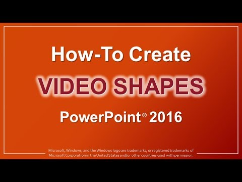 How to Create Video Shapes in PowerPoint 2016