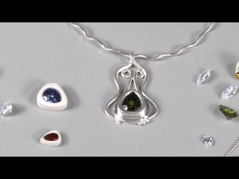Make an Art Nouveau Pendant using Silver Metal Clay