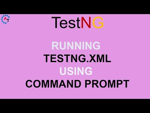 Running testng.xml from command pompt