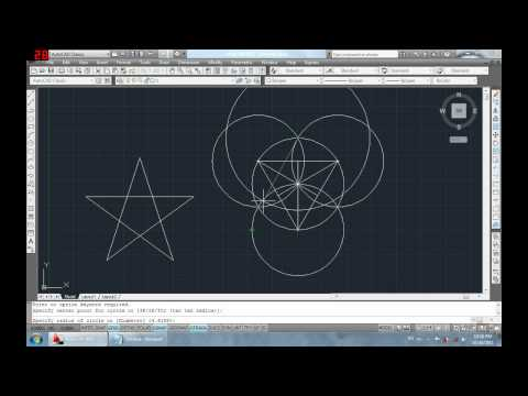 How to draw a star using Autocad