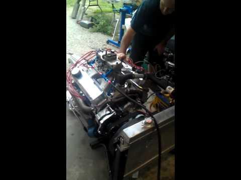 mopar 318 stroker fire up