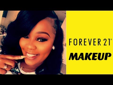 OMG USING ALL FOREVER 21 MAKEUP