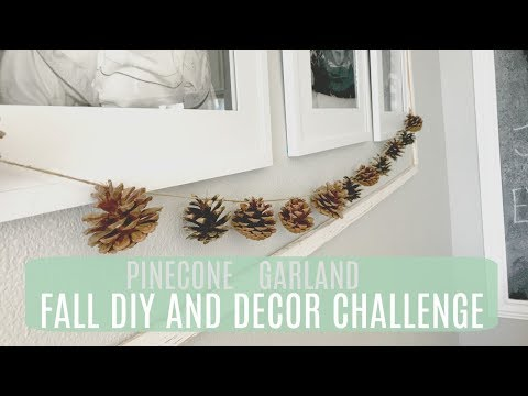 Fall DIY and Decor Challenge: Pinecone Garland