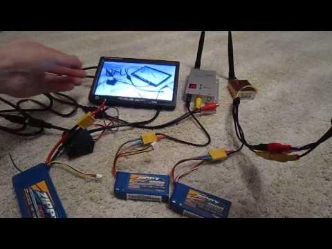 How setup FPV, monitor + 1.2GHz 800mW + batterys, RC FPV Kit