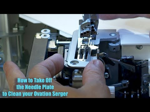 Baby Lock Ovation Serger Manual -  How to Take off the Needle Plate