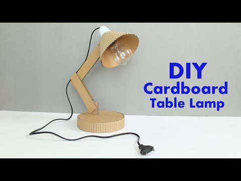 How to Make a Cardboard Table Lamp at Home - DIY Table Lamp