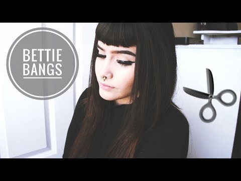 How I cut my bangs //