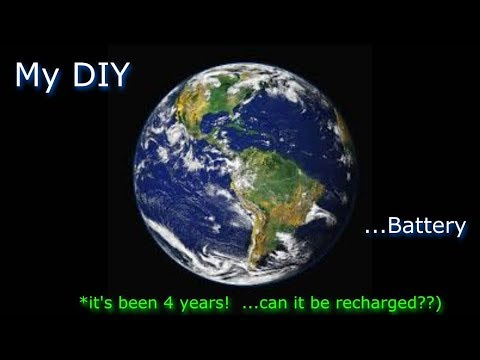 MY DIY Earth Battery (4 yrs. later) - unused for 4 years - will it recharge back to new??